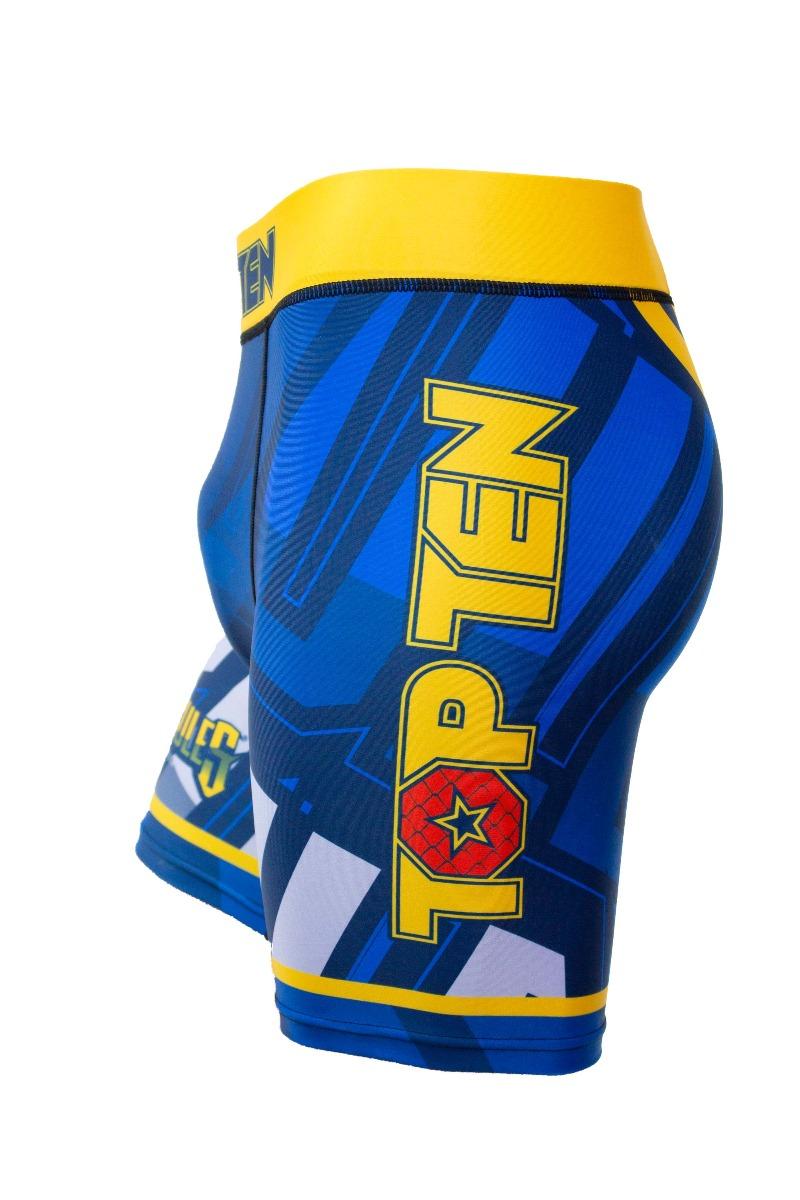 """TOP TEN MMA Compressiebroek """"Hercules"""" (Blauw - Geel)"""