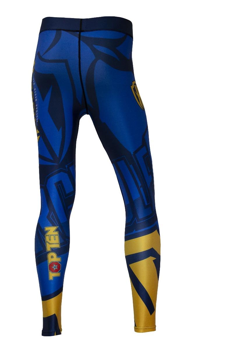 """Compressiebroek / legging """"Hercules"""" Blauw - Geel"""