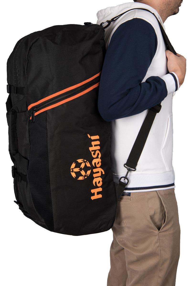 Hayashi Rugtas / Sporttas (Zwart - Oranje)