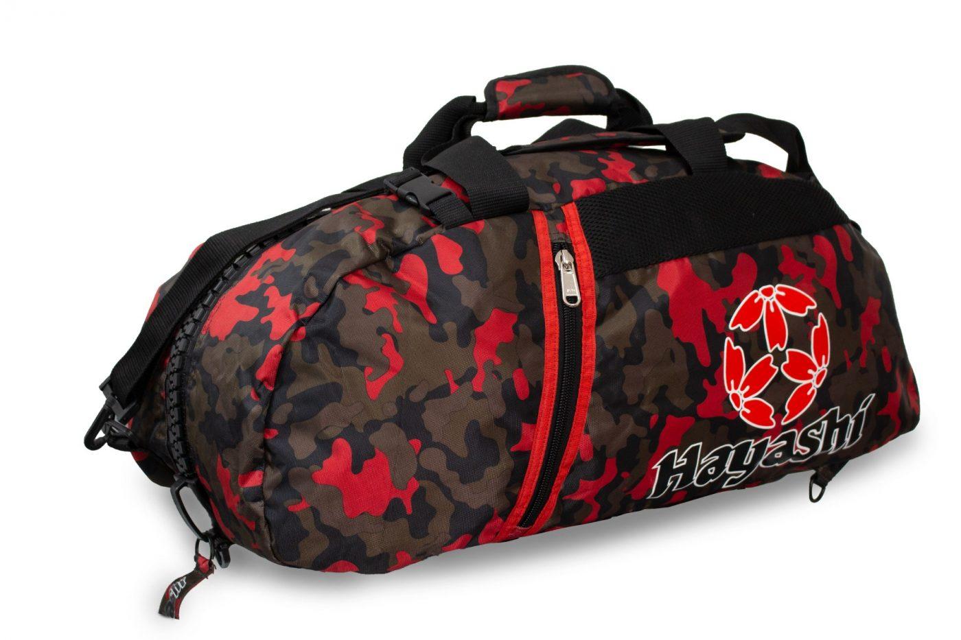Rugtas / Sporttas Camouflage - rood
