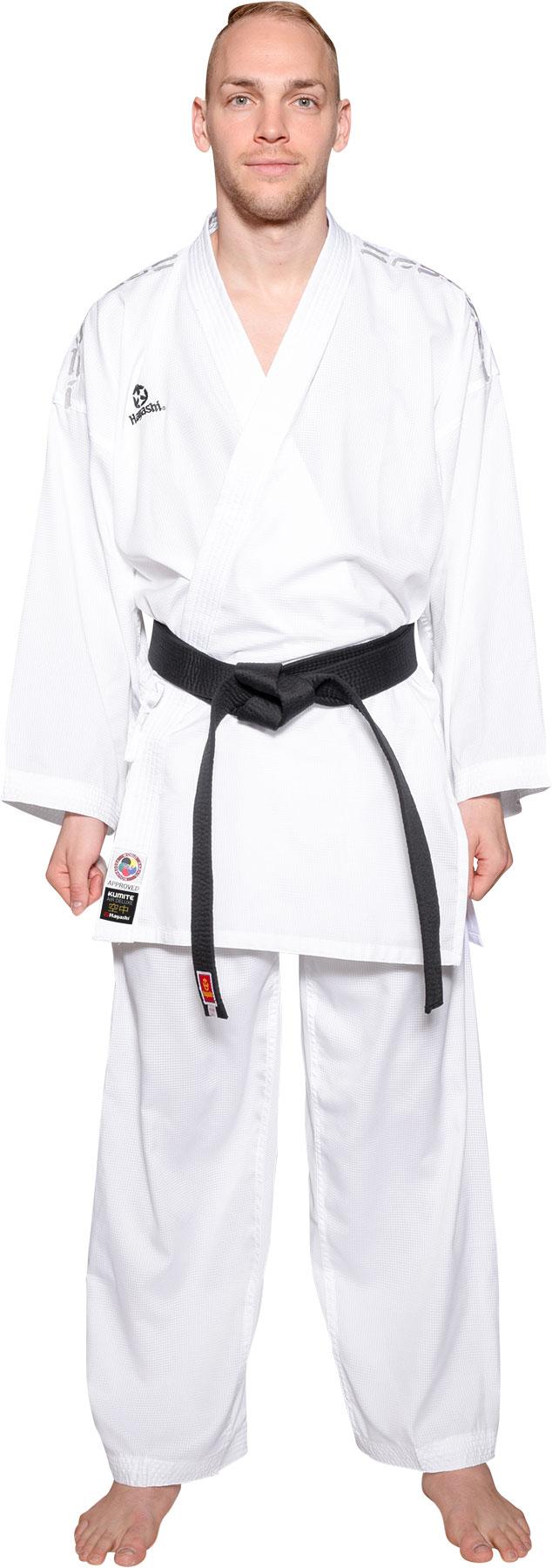 "Hayashi Karatepak ""Air Deluxe"" Wit - rood"