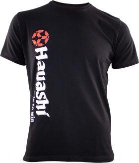 "T-Shirt ""Equip to win"" Vertical Perfection Zwart"