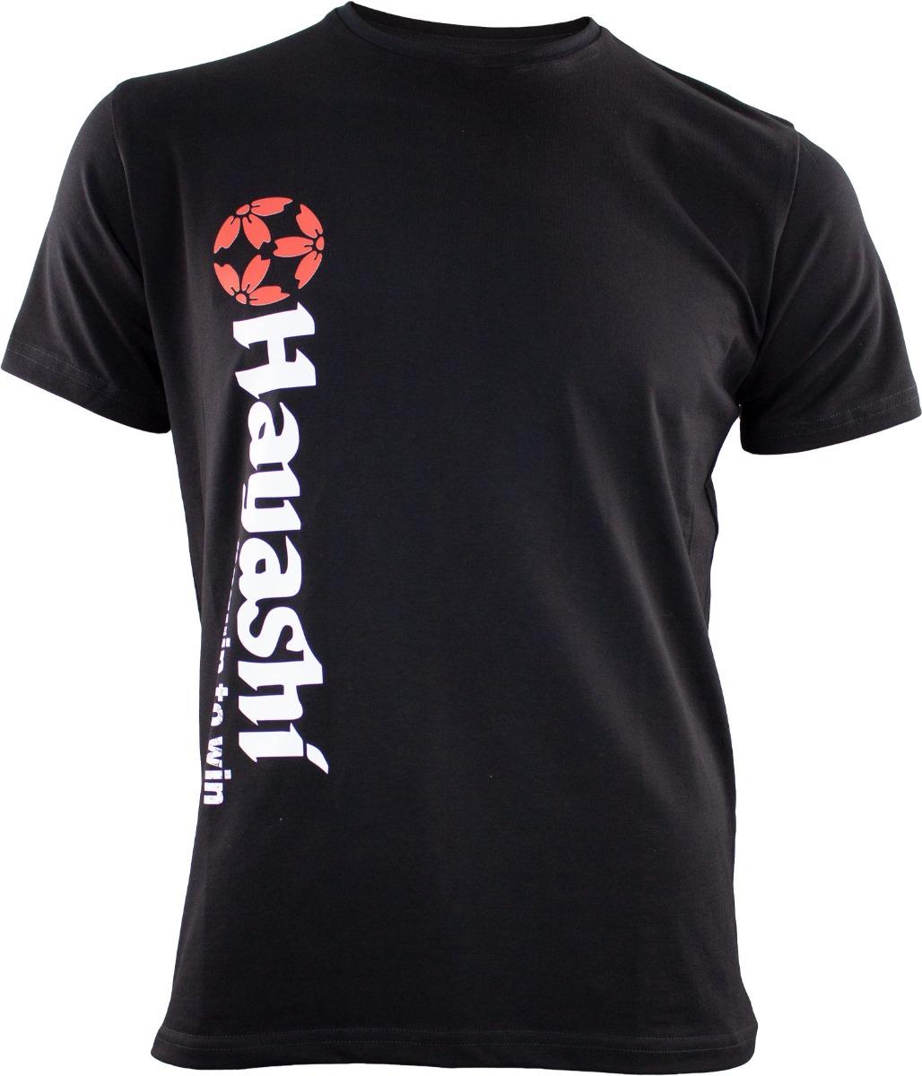 """Hayashi T-Shirt """"Equip to win"""" Vertical Perfection (Zwart)"""