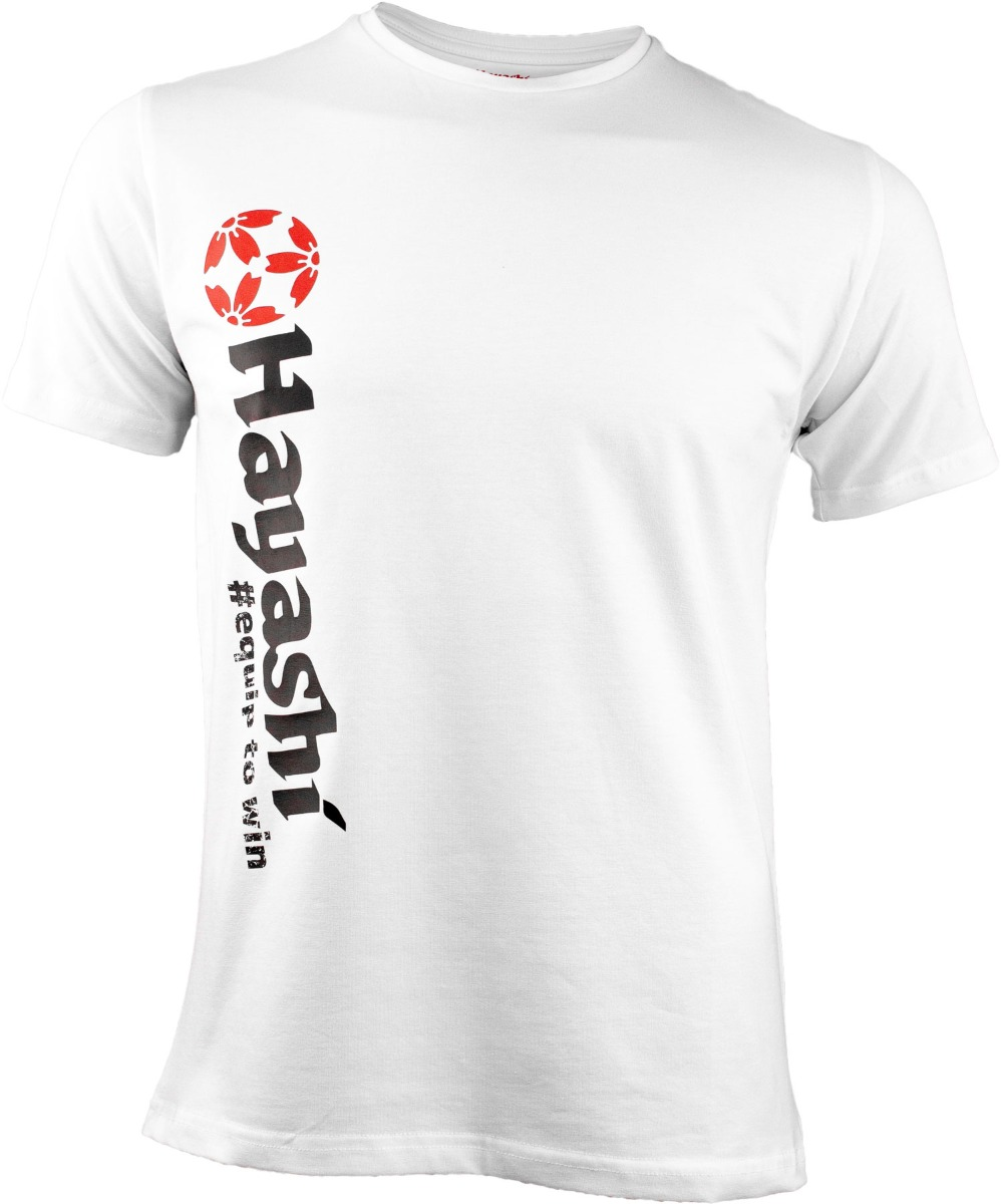 """Hayashi T-Shirt """"Equip to win"""" Vertical Perfection (Wit)"""