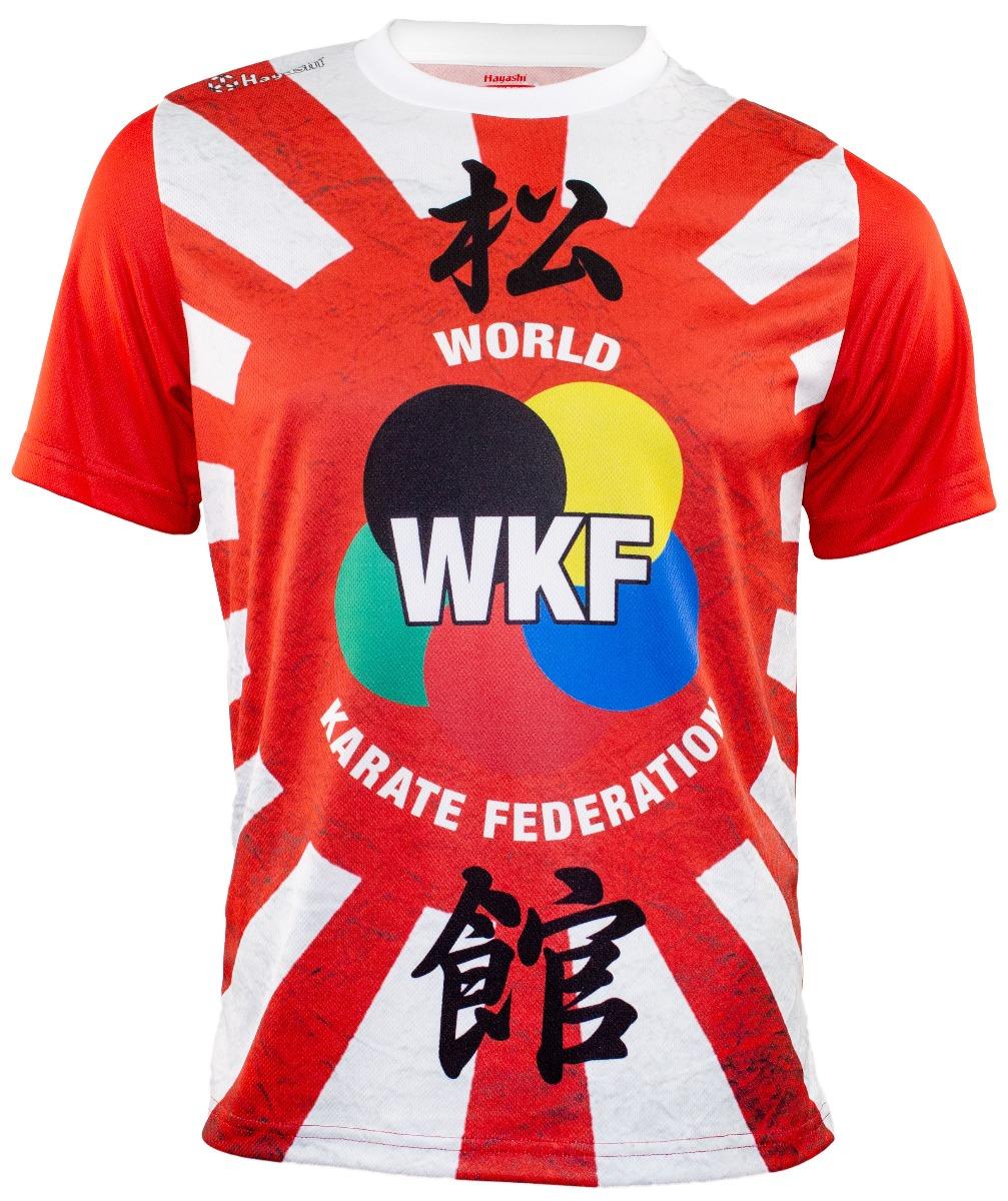 """WKF Shirt """"Hinomaru"""" Wit - rood"""