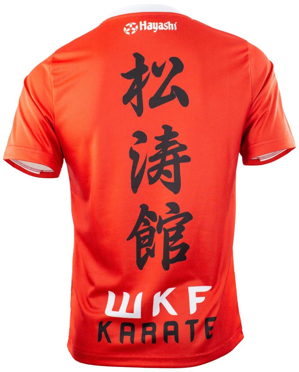 "Hayashi WKF Shirt ""Hinomaru"" (Wit - rood)"