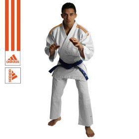 Adidas Judopak J350 Club Wit/Oranje 110cm