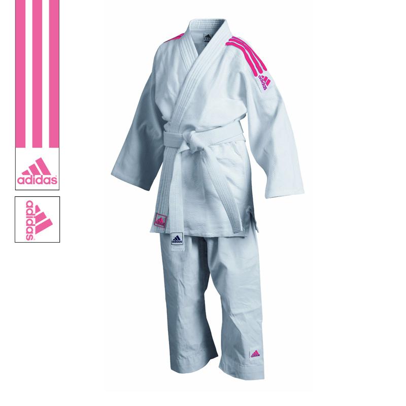 Adidas Judopak J350 Club Wit/Roze 110cm