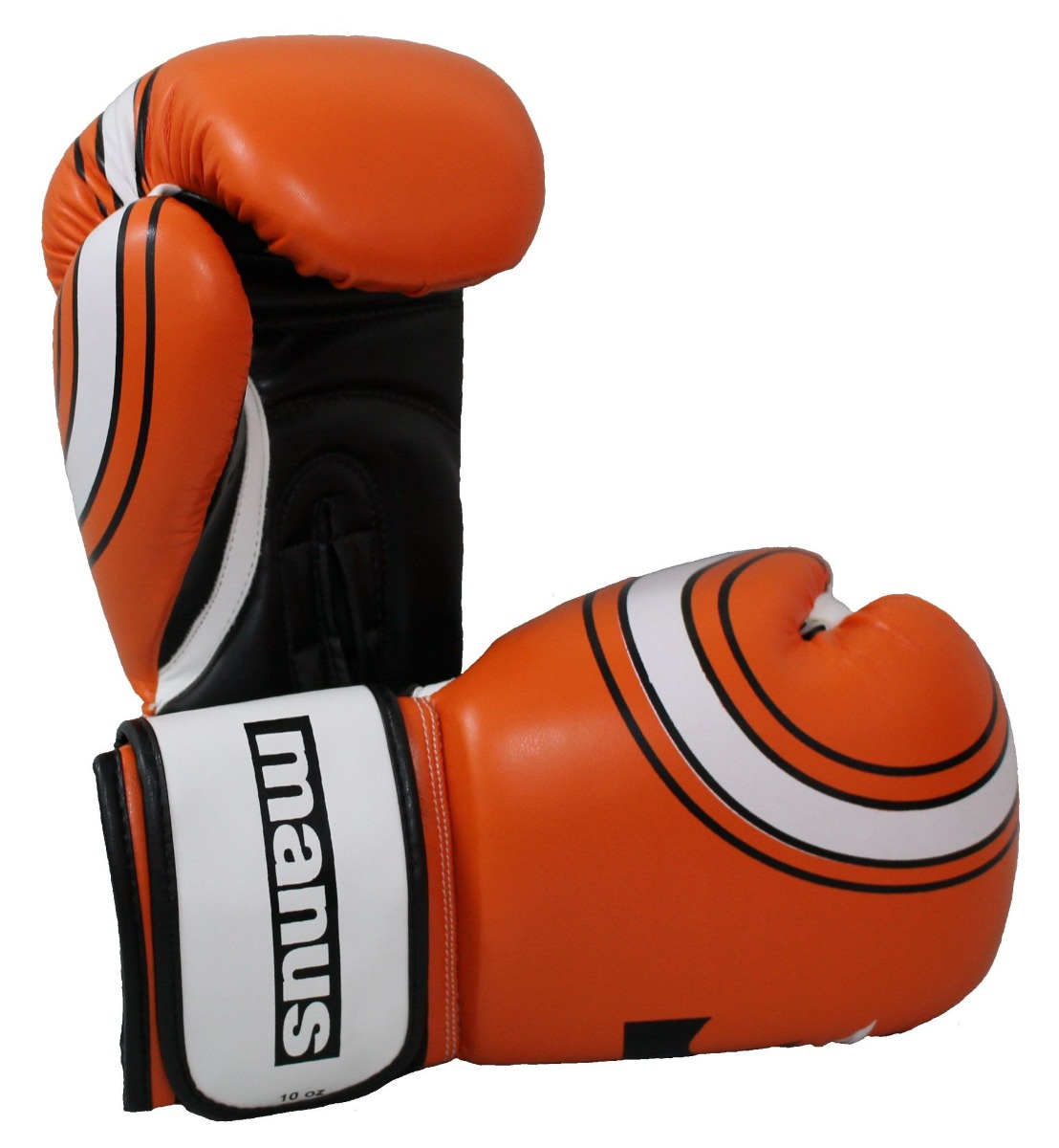 Manus Bokshandschoenen / sparringshandschoenen (Oranje - Wit)
