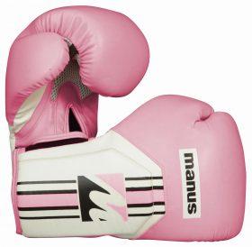 """Bokshandschoenen / sparringshandschoenen """"Cool"""" Roze - Wit"""