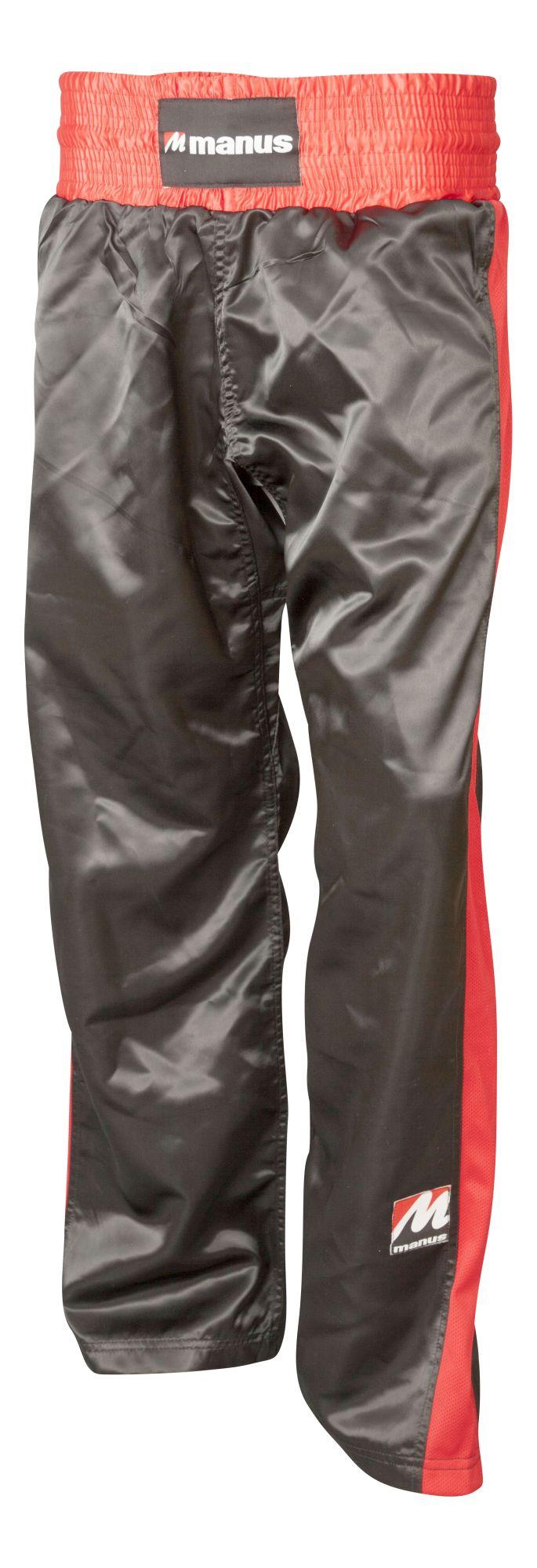 Kickboksbroek voor kinderen Zwart - rood