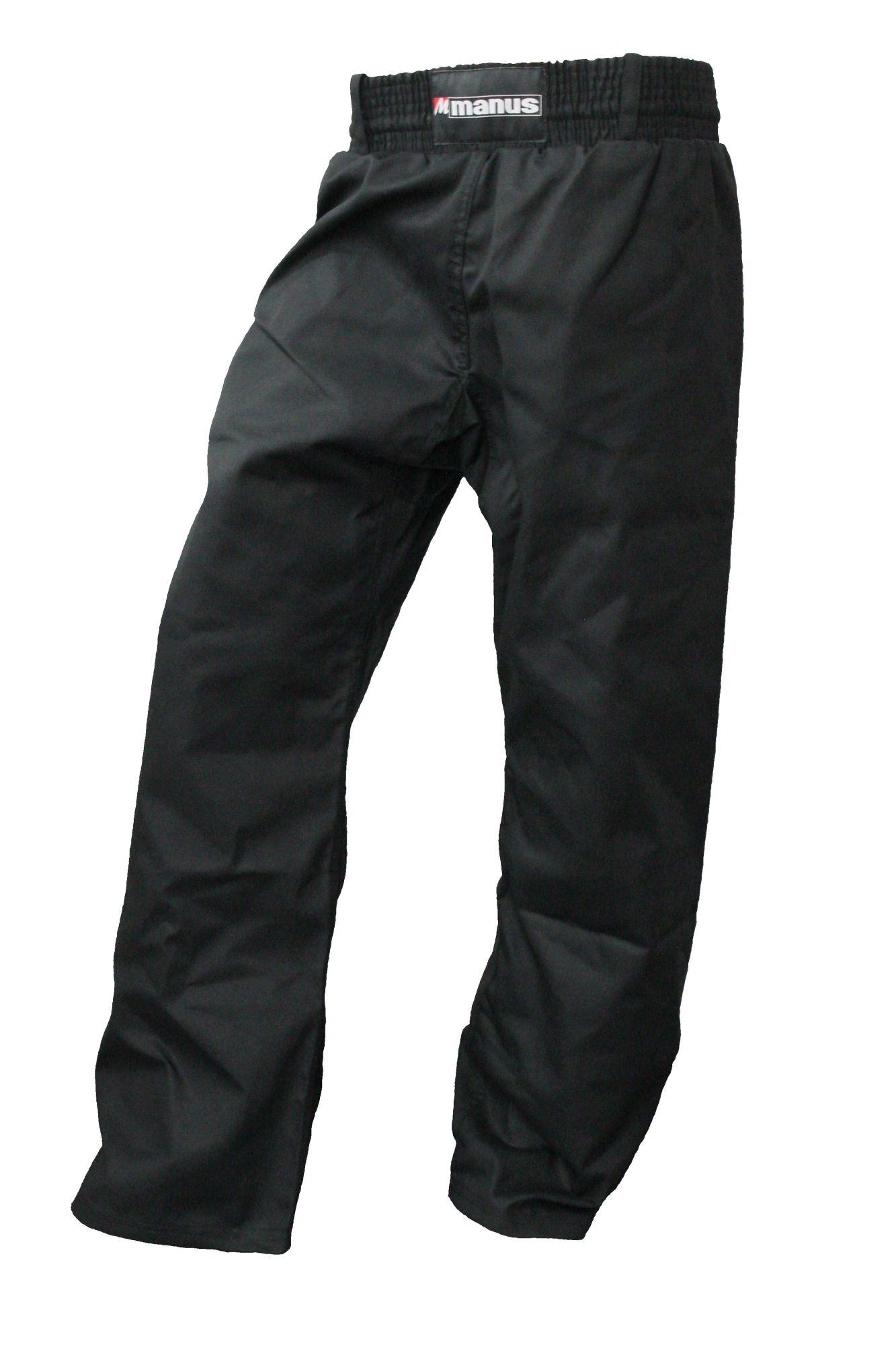 Manus Kickboksbroek met strepen (Zwart)