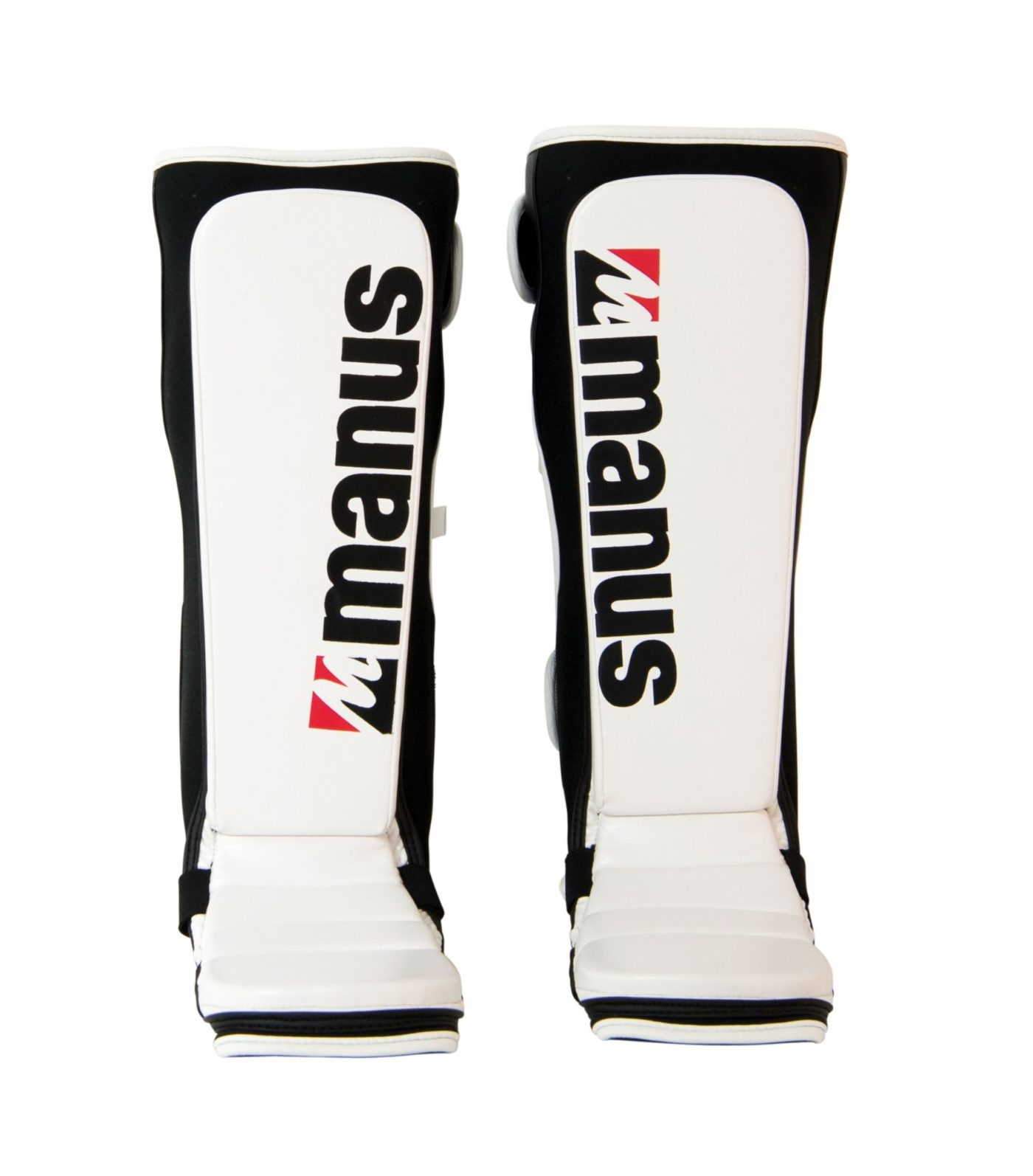 "Manus Scheenbeschermers ""Glossy"" voor Thaiboksen / K1 / MMA (Wit)"