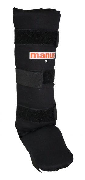 """Manus Scheenbeschermers """"Thaibox"""" voor Thaiboksen / K1 / MMA (Zwart)"""