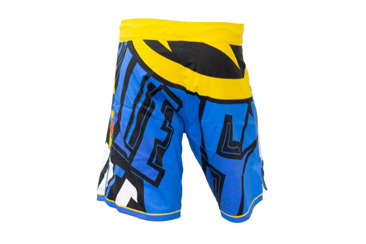 """TOP TEN MMA broekje """"Hercules"""" Blauw - (Geel)"""