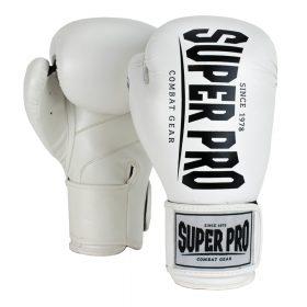 Super Pro Combat Gear Champ (kick)bokshandschoenen Wit/Zwart 8oz