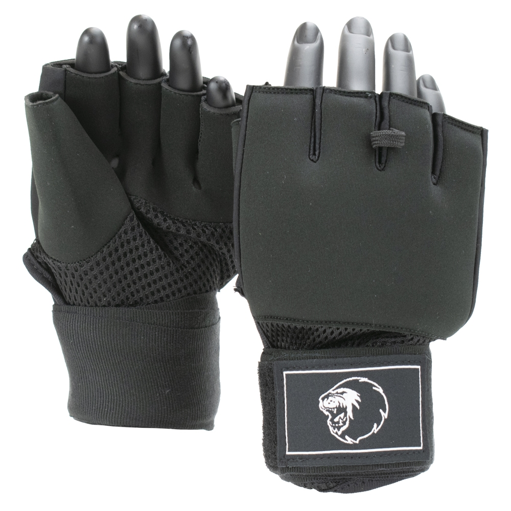Super Pro Combat Gear Mexican Wrap Binnenhandschoenen Zwart/Wit Medium