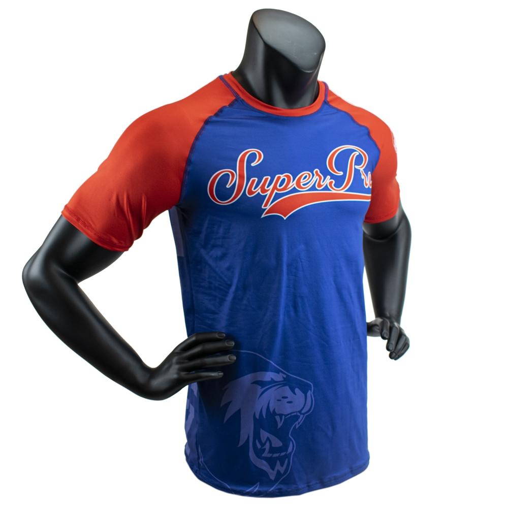 Super Pro Combat Gear T-Shirt Sublimatie Challenger Blauw/Rood/Wit Maat 140