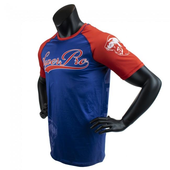 Super Pro Combat Gear T-Shirt Sublimatie Challenger (Blauw/Rood/Wit)