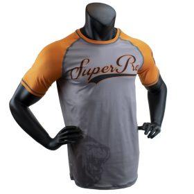 Super Pro Combat Gear T-Shirt Sublimatie Challenger Grijs/Oranje/Zwart Extra Small
