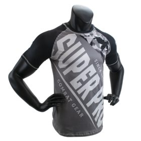 Super Pro Combat Gear T-Shirt Sublimatie Camo Zwart/Grijs/Wit Maat 140