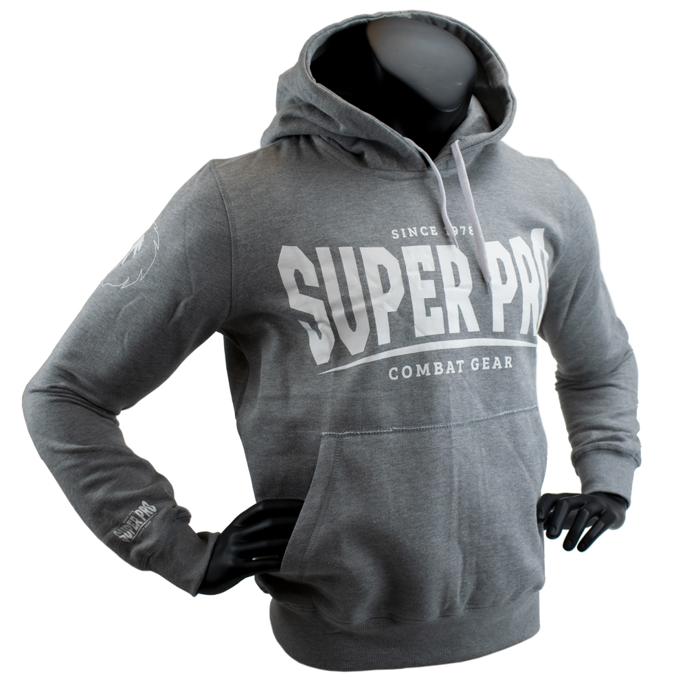 Super Pro Hoody S.P. Logo Grijs/Wit Extra Small