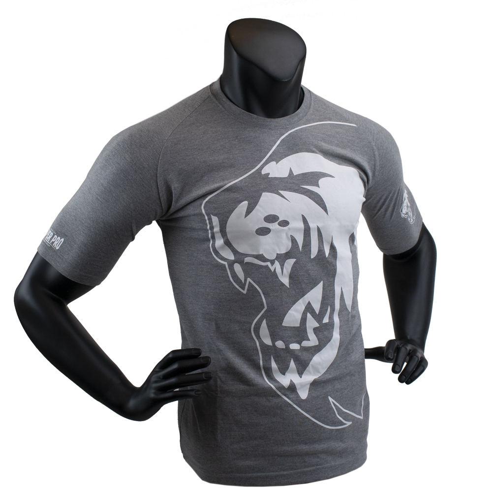 Super Pro T-Shirt Lion Logo Grijs/Wit 140