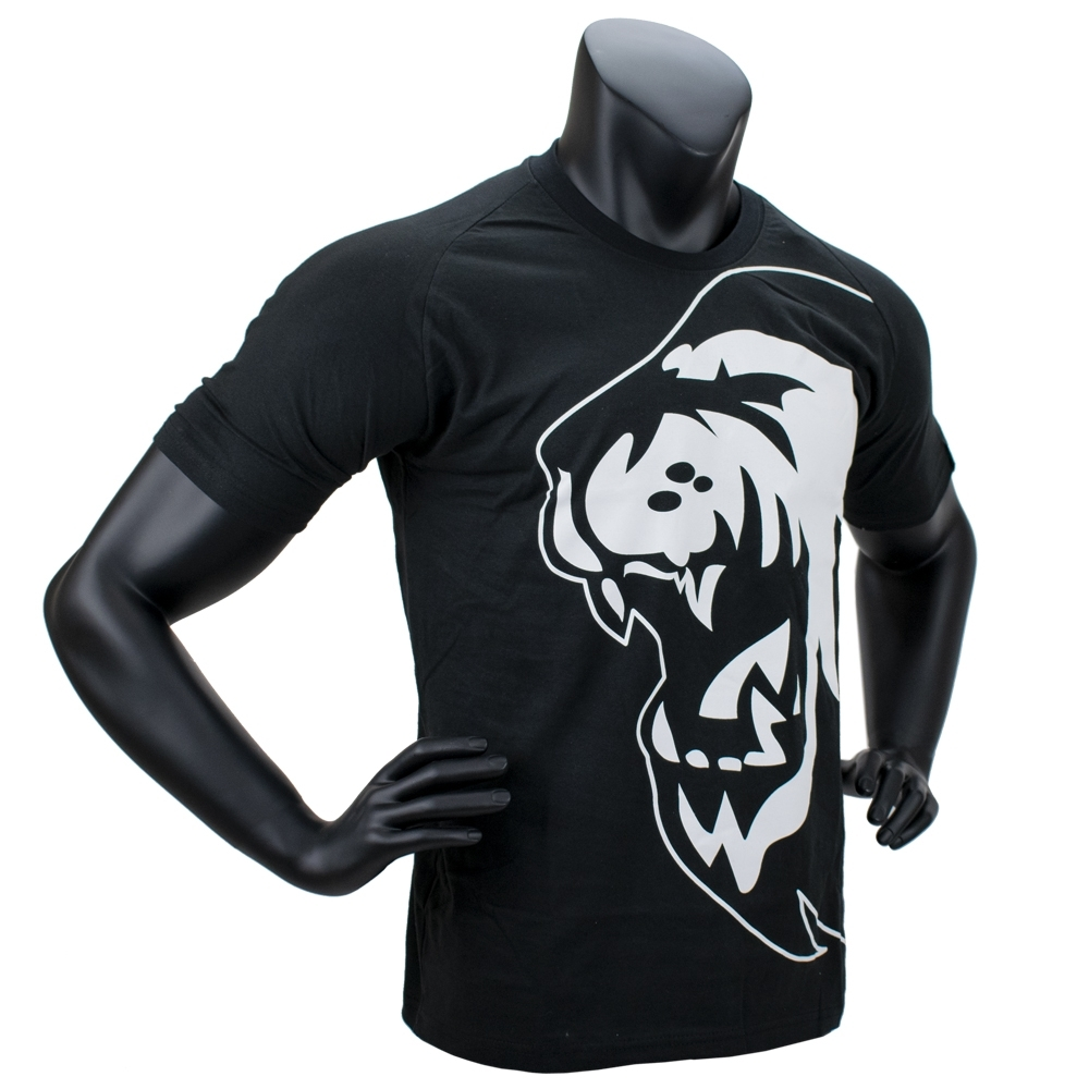 Super Pro T-Shirt Lion Logo (Zwart/Wit)