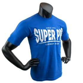 Super Pro T-Shirt S.P. Logo Blue/Wit 140