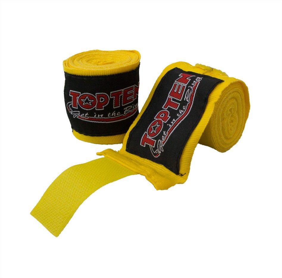 TOP TEN Elastische boksbandage Geel