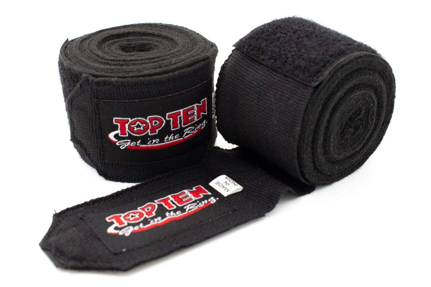 Elastische boksbandage Zwart