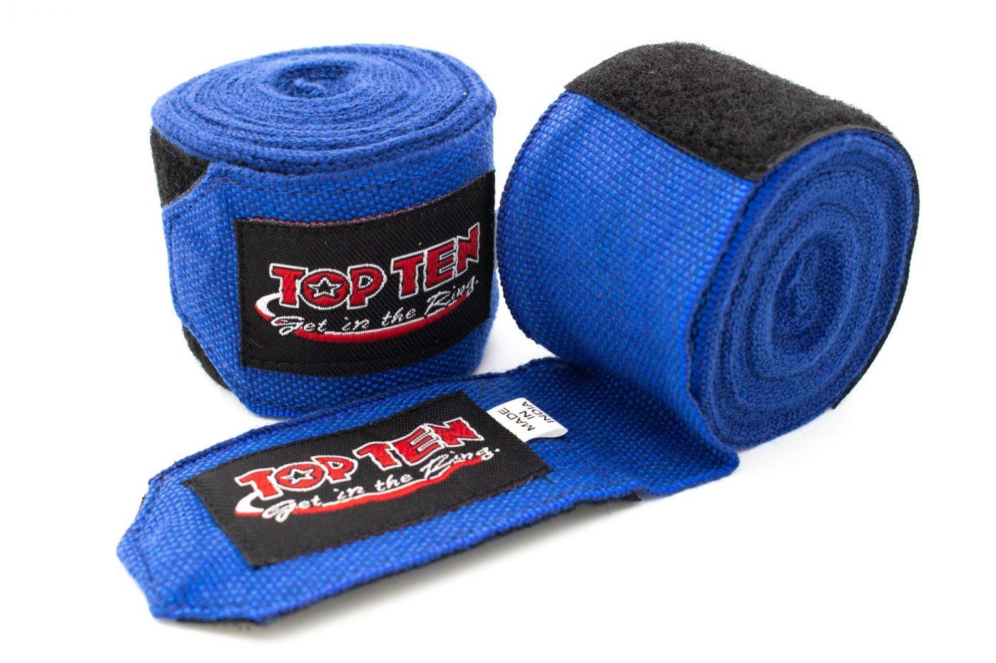 Elastische boksbandage Blauw