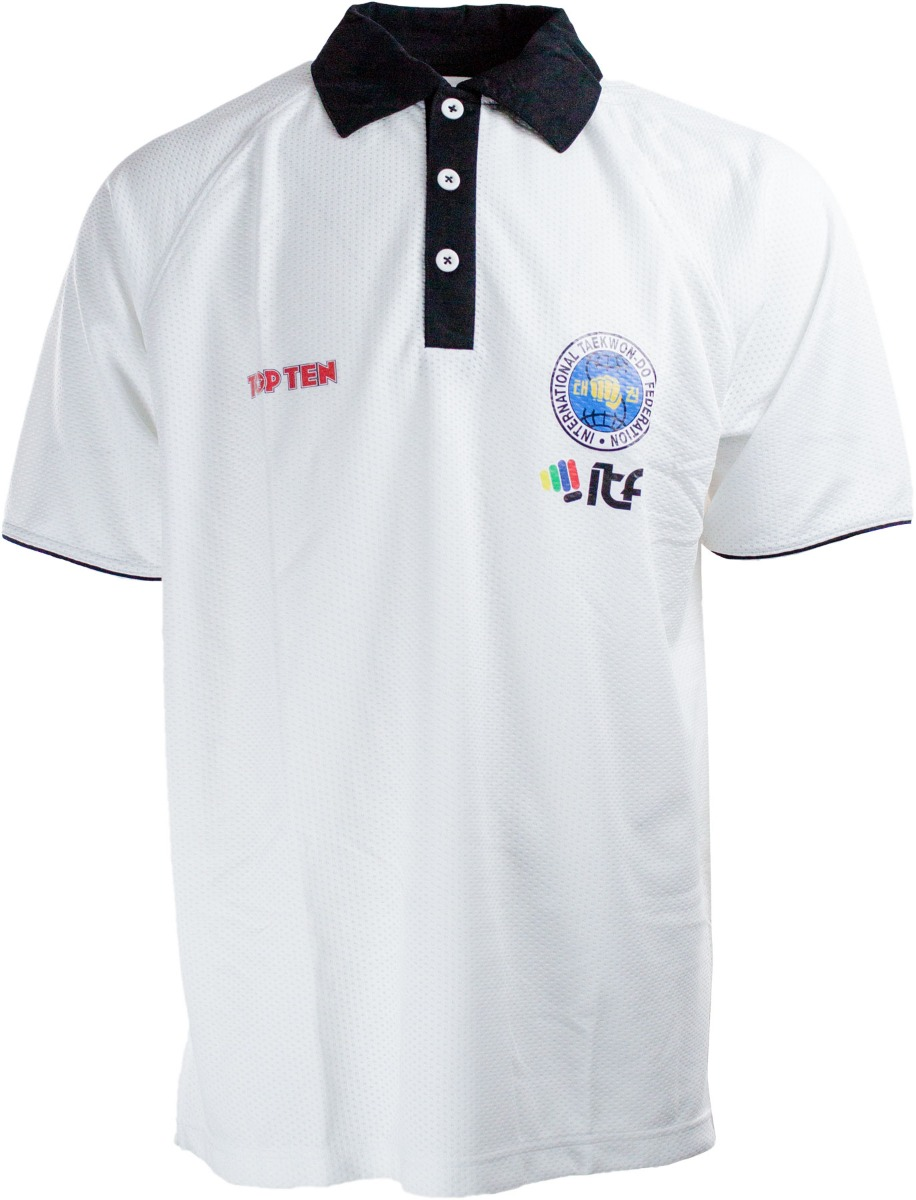 """TOP TEN Polo Shirt """"ITF Dry Fit"""" (Wit)"""