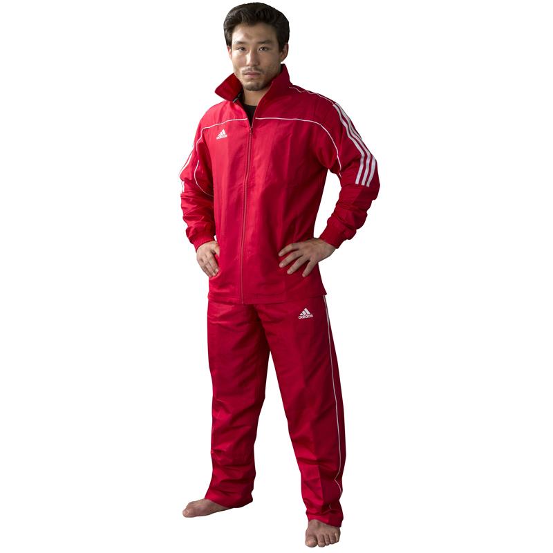 adidas Team Track Trainingsbroek Rood/Wit S