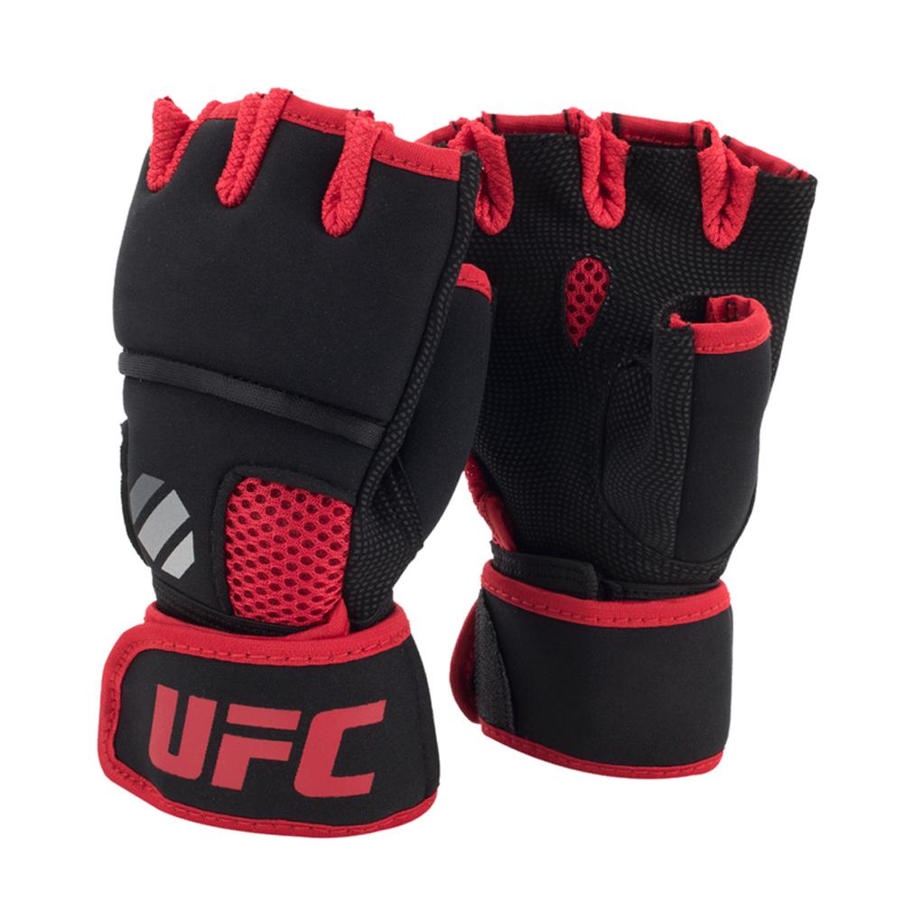 UFC Contender Quick Wrap Binnenhandschoenen Met Gel-Padding Zwart/Rood S/M