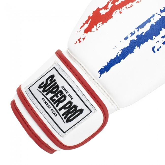 Super Pro Combat Gear Talent (kick)bokshandschoenen Rood/Wit/Blauw