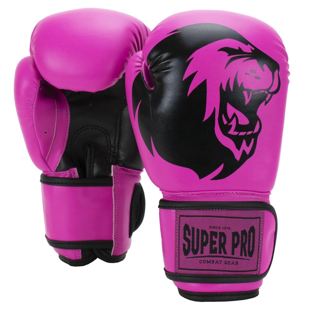 Super Pro Combat Gear Talent (kick)bokshandschoenen Roze/Zwart 4oz
