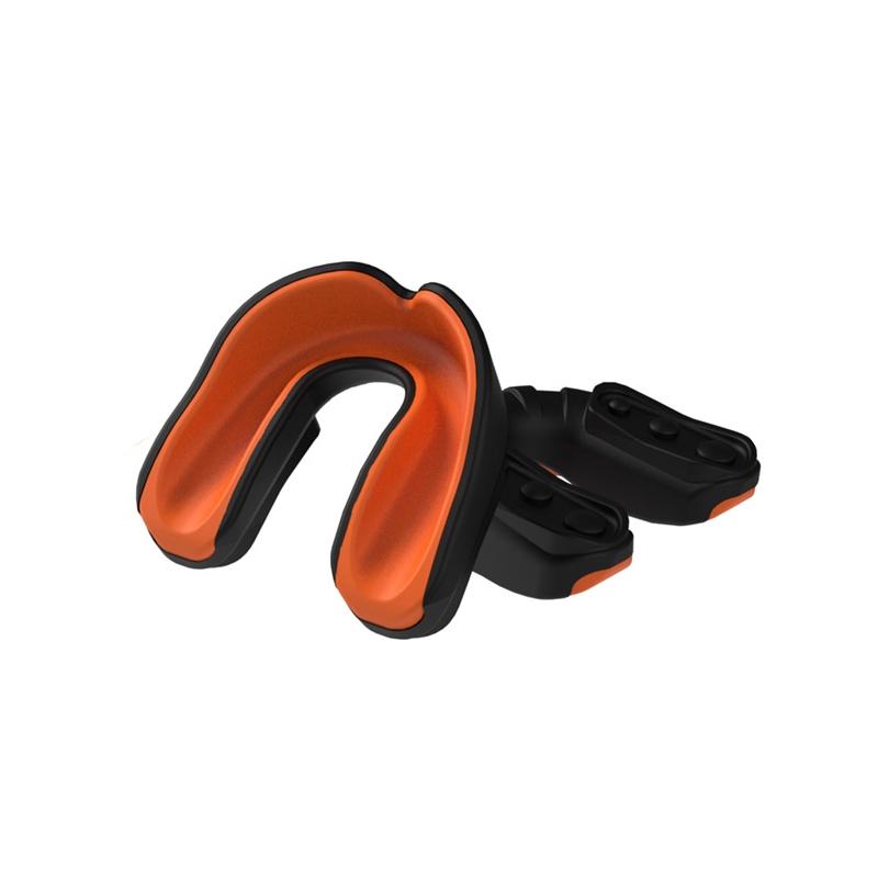 Multisports Gel Mouthguard Black/Orange Youth