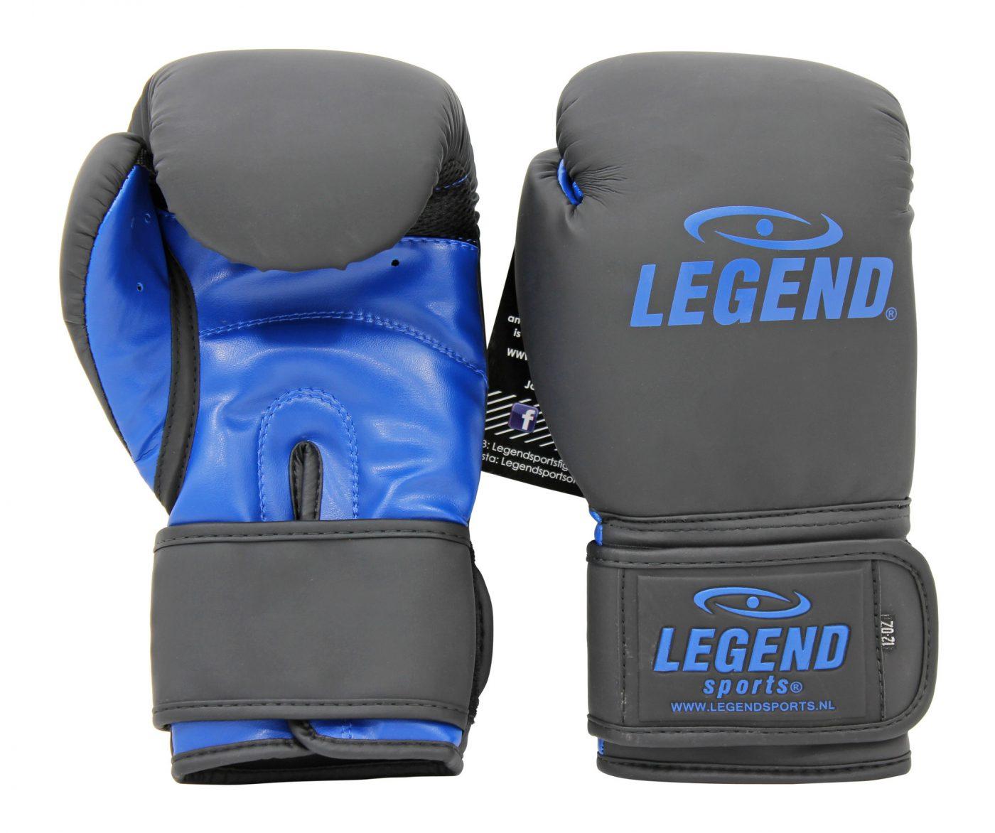 Bokshandschoenen LegendClima & Protect Mat zwart/Blauw