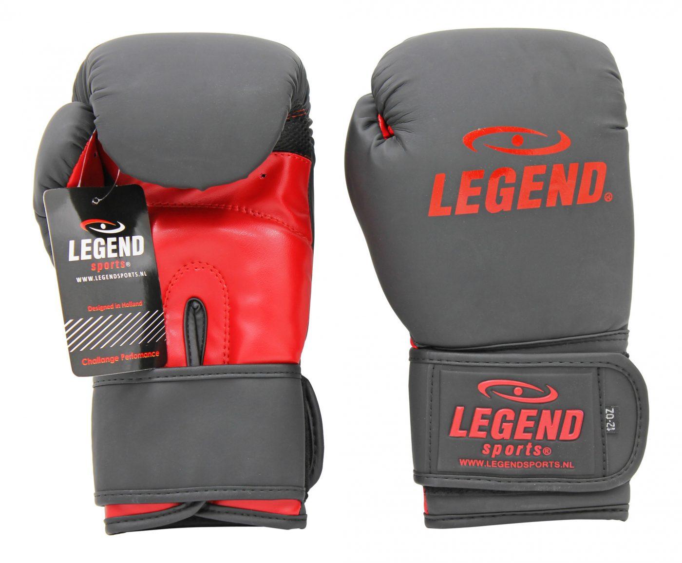 Bokshandschoenen LegendClima & Protect Mat zwart/Rood
