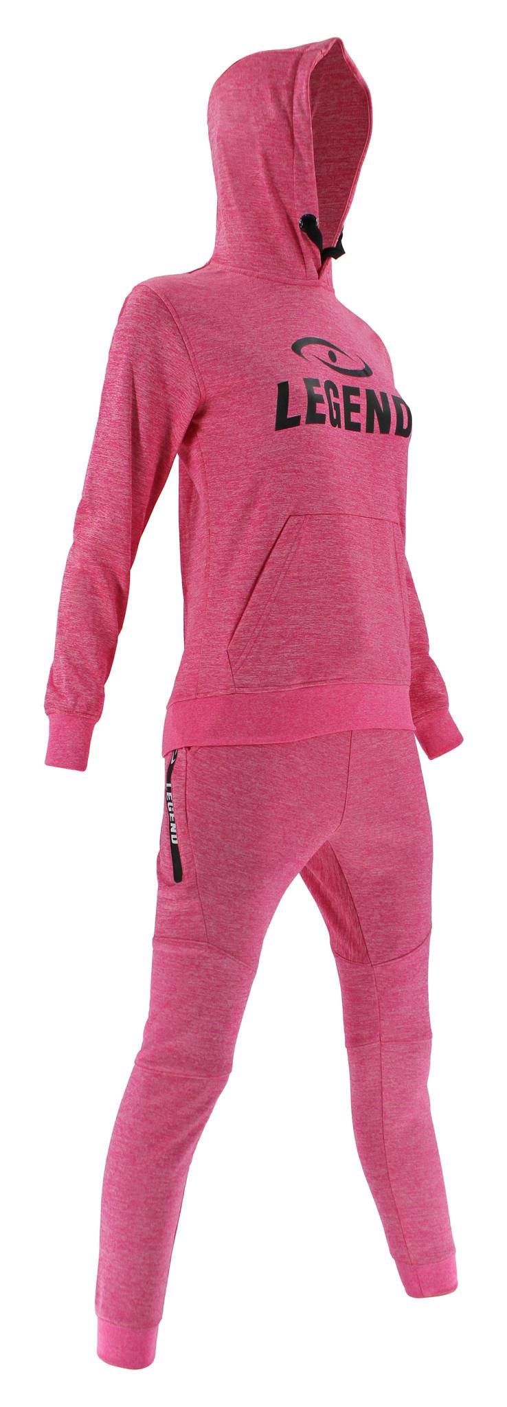 Joggingpak dames/heren met hoodie Roze