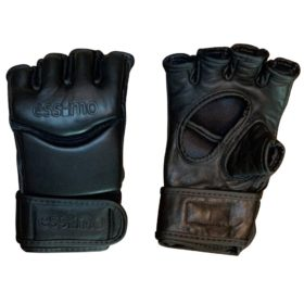Essimo Leather Free Fight / MMA Gloves - Black