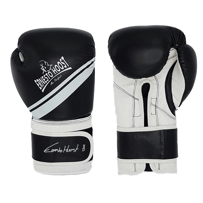 """Ernesto Hoost """"Kickboxing"""" Handschoenen PU - Zwart/Wit"""