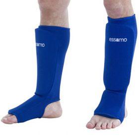 Essimo Scheen/wreef beschermer elastisch katoen blauw