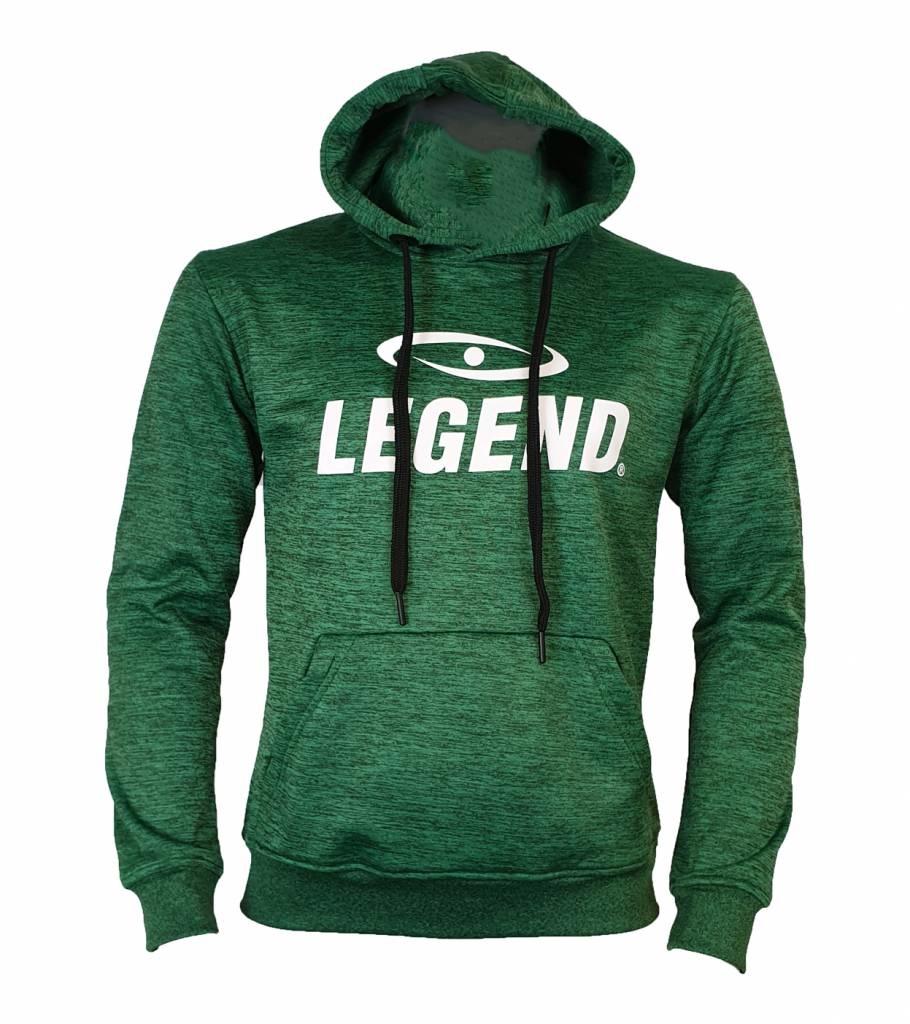 Hoodie dames/heren trendy Legend design Groen