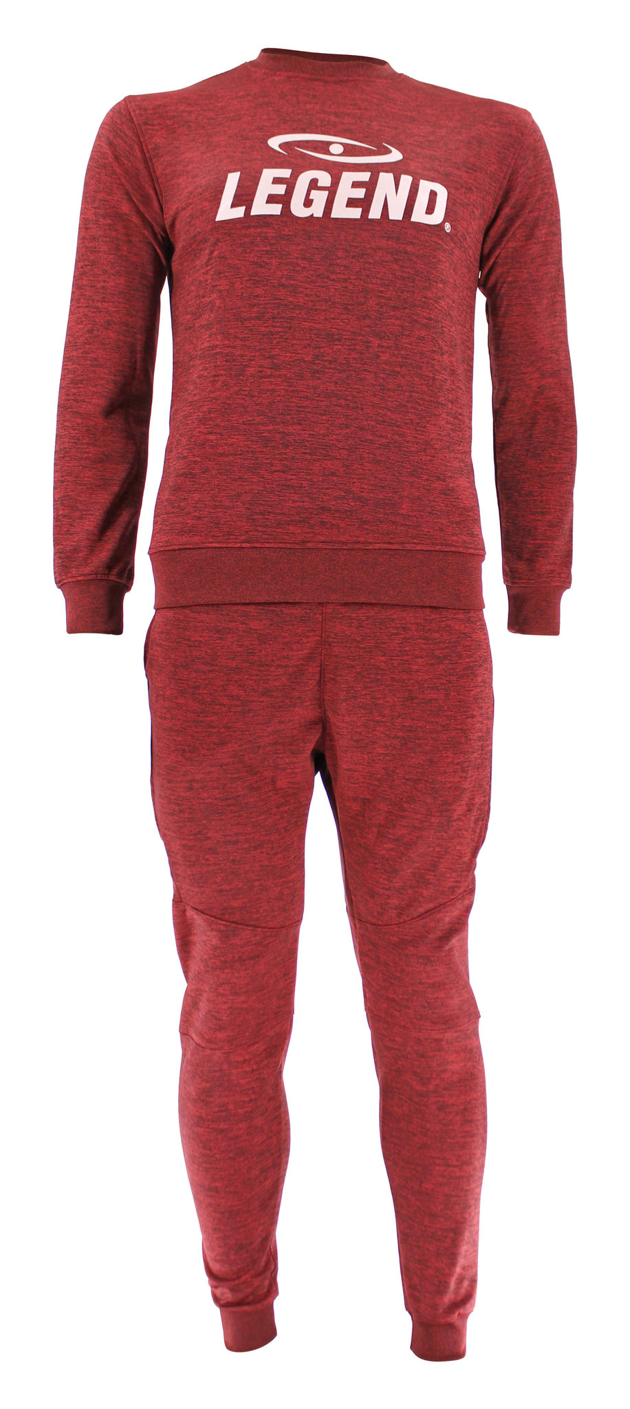 Joggingpak dames/heren met trui/sweater Rood