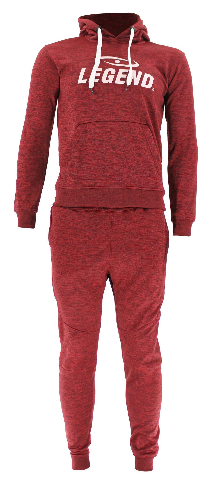 Joggingpak dames/heren met hoodie Rood