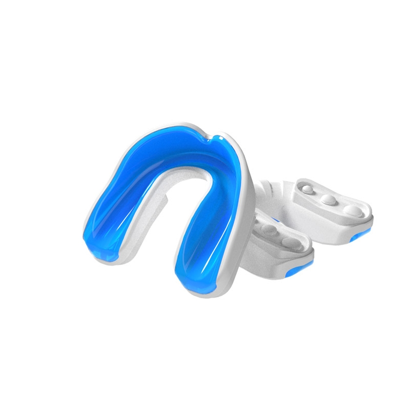 Multisports Gel Mouthguard White/Blue Adult