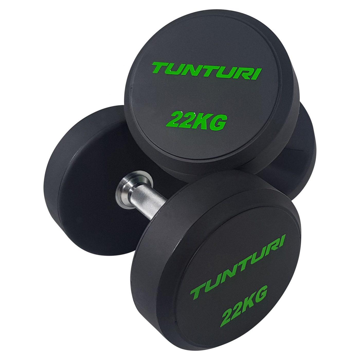 Tunturi Pro PU Dumbbell Set 14 t/m 32 kg - 1 paar - (Halterset)