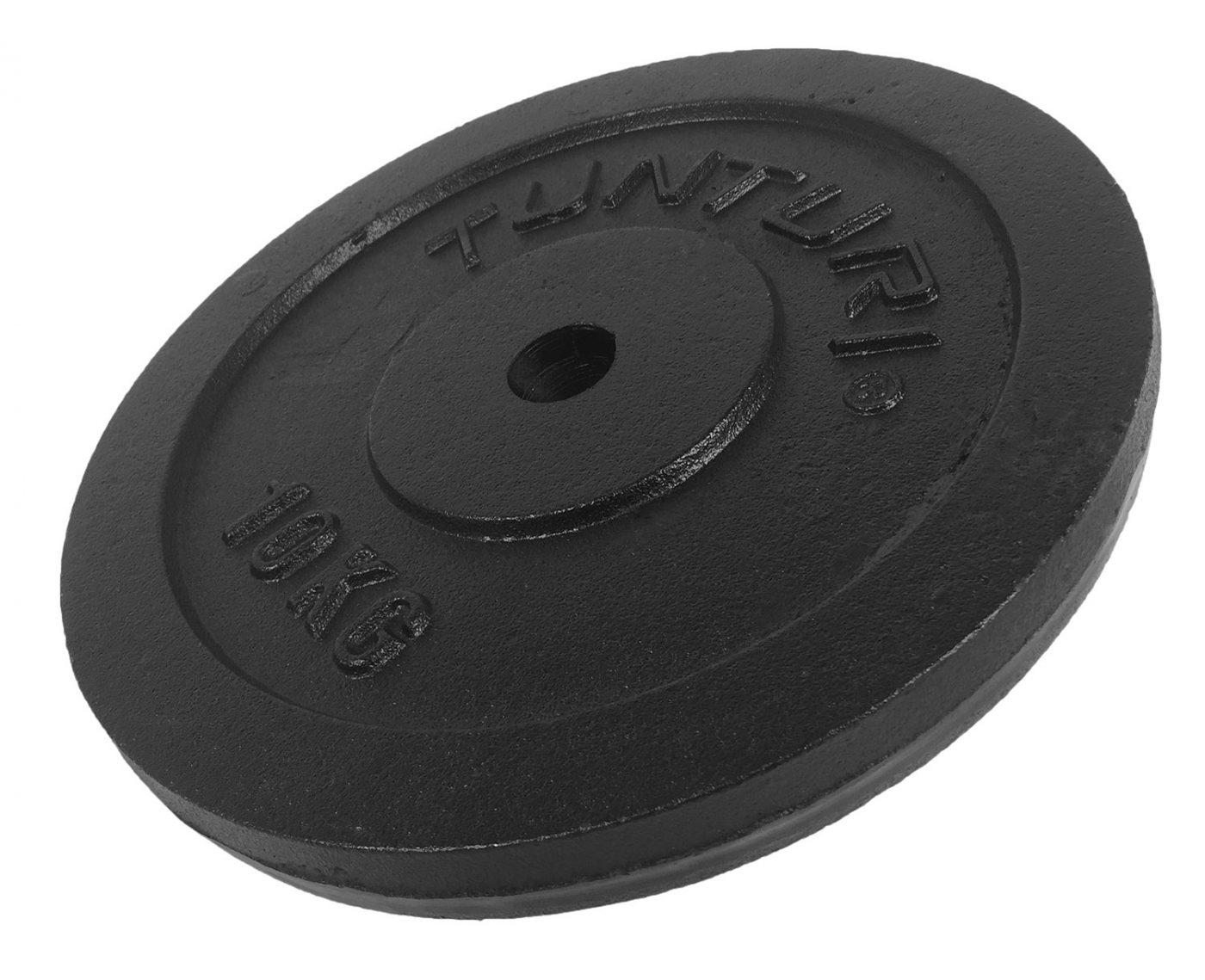 Tunturi Halterschijf - Halter gewichten - 1 x 10 kg - п 30 mm - Gietijzer
